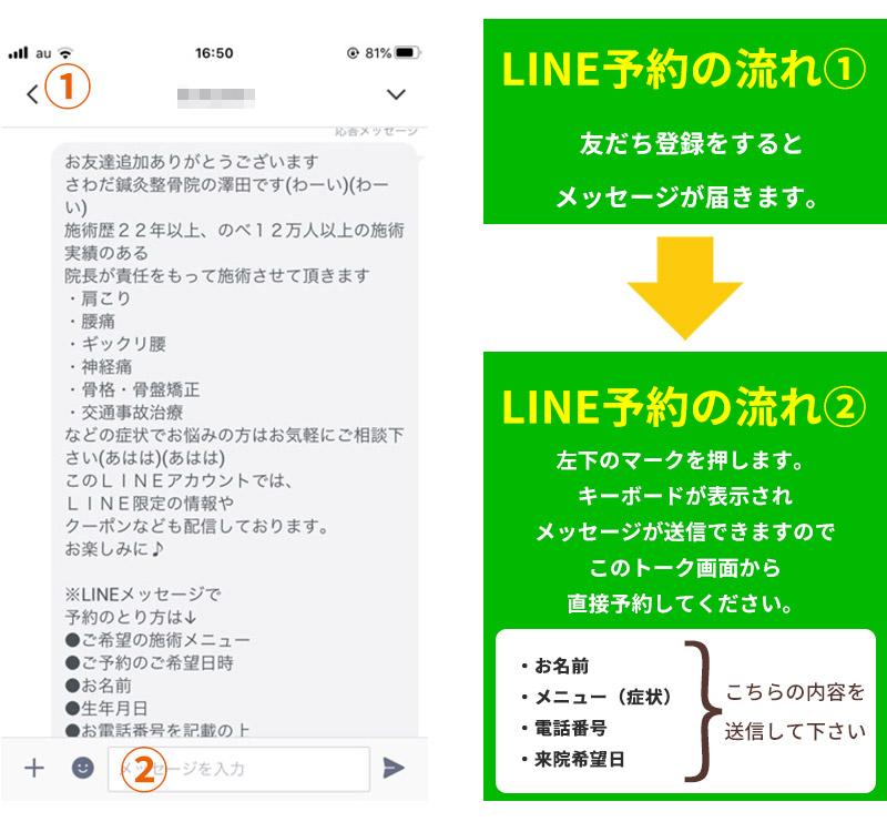 LINE予約の手順1